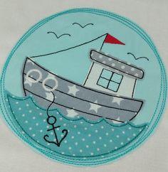 Stickmuster - ♥ Doodle Buttons *Am Meer* 13x18 Stickdatei ♥ - ein Designerstück von StoffCut bei DaWanda