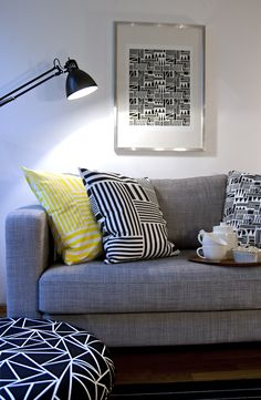 Stripes and Blocks cushions Decor, Furniture, Home Decor Inspiration, Interior Decorating, Cushions, Interior, Floor Cushions, Home Board, Home Decor