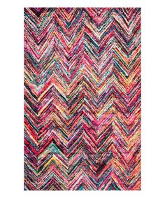 Look at this Zenia Chervon Area Rug on #zulily today!