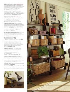 Pottery barn shelves
