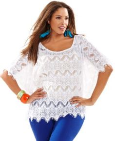 eaf66e4f9eee5 INC International Concepts Plus Size Top