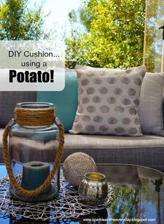 Sparkles in the Everyday!: DIY Cushion...using a Potato!!!