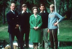 Queen Elizabeth II with Prince Phillip the Duke of Edinburgh holidaying in Scotland with their three sons, Prince Andrew the Duke of York, Prince Charles the Prince of Wales and Prince Edward the Earl of Wessex. Prince Andrew, Prince Charles, Prince Edward, George Vi, Roi George, Greek Royal Family, British Royal Families, Duchess Of York, Duke Of York
