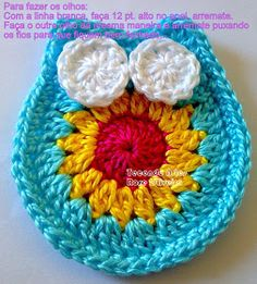 Marque-pages Au Crochet, Patron Crochet, Crochet Turtle, Crochet Motifs, Freeform Crochet, Crochet Hats, Owl Crochet Patterns, Christmas Crochet Patterns, Holiday Crochet