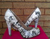 comic book shoes on Etsy, a global handmade and vintage marketplace.