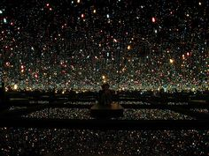 Yayoi Kusama - Infinity Room. I wanted to spend a day in here (boo to Tate for their treatment of this)