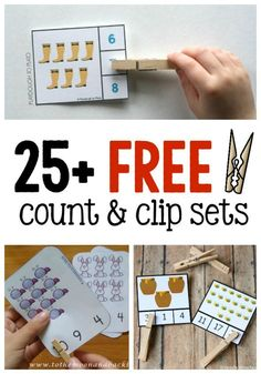 25 FREE Count and Clip Activities via NoodleNook.Net