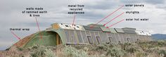 Earthship Plans-I would love to live off the grid in a house like this. It would have to be in or near the mountains.