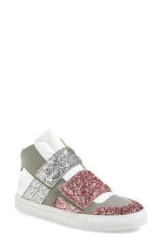 MM6 Maison Margiela Glitter High Top Sneaker (Women) available at #Nordstrom