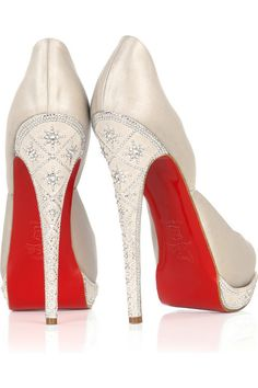 if i was rich and wanted to wear heels, i would've gotten these CLs for my wedding :)