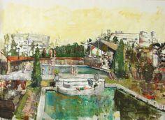 Marius Bercea Waiting for the Summer Rain, 153 x 200 cm, oil on canvas, 2010
