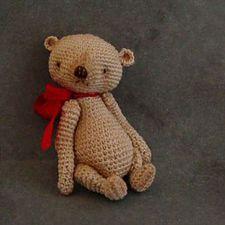 Hand made creations, one of a kind knitted and felted and crocheted artist bears and dolls home décor kid's bedroom décor Thread Bear ThreadBears
