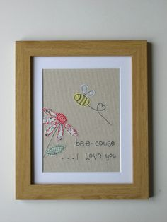 Back to nature quotes you are 44 ideas Freehand Machine Embroidery, Free Motion Embroidery, Embroidery Transfers, Machine Embroidery Applique, Embroidery Patterns, Fabric Cards, Fabric Postcards, Sewing Cards, Bee Art