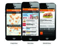 3 manieren om Scoupy-acties te bekijken: mapview, listview & detailview.