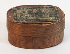 Antique snuff box with German label