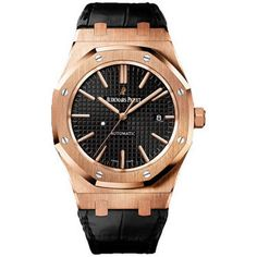 Audemars Piguet Royal Oak Rose Gold Black Dial Watch 15400OROOD002CR01