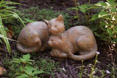 """Sleeping Cats Statuary by Outdoor Decor. $24.99. Part of the endearing Nature's Slumber collection by Layhou Lam. 12.25""""L x 5.25""""W x 6""""H. Soft, natural colors. Painted Resin. A unique and thoughtful gift for anyone who loves the outdoors. Drawing from the simplicity and solitude of the life of St. Francis, this piece seems to have a natural home in your garden. These furry friends are caught in the innocence of sleep. A natural, aged terra cotta finish lends a classic appe..."""