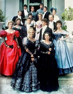 The Mains and the Hazards, North and South, TV mini-series North And South, Civil War Movies, Jean Simmons, Patrick Swayze, Movie Costumes, Southern Belle, Classic Movies, Costume Design, Actors & Actresses