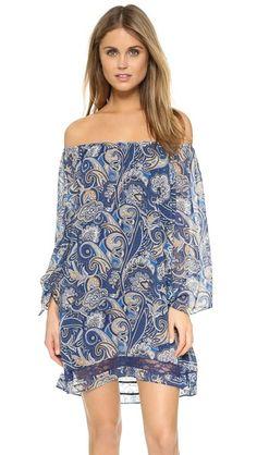 alice + olivia Платье Cari с открытыми плечами