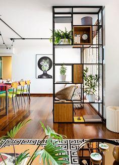 Continuando a lista das diversas formas de dividir ambientes sem parede, vamos para mais exemplos de divisórias bem bacanas para seu apartamento integrado #divisória #ambienteintegrado #apartamentopequeno