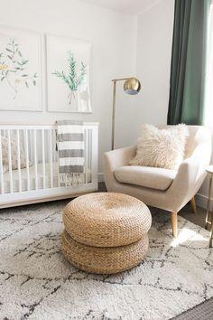 Baby nursery neutral poufs ideas for 2019 Baby Nursery Decor, Baby Decor, Nursery Room, Nursery Ideas, Nursery Pictures, Nursery Modern, Green Nursery Girl, Ikea Nursery, White Nursery