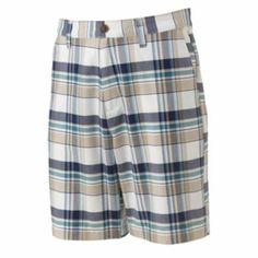 Croft & Barrow Oxford Plaid Easy-Care Flat-Front Shorts - Men