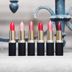 💄Are you a lipstick addict? 💄Babes starring the Parisian way 💄 featuring Color Riche Matte lipsticks 💋 From ⬅️ to ➡️ Haute Rouge ✨Moka Chic ✨Erotique ✨Scarlet Silhouette ✨Blush in a Rush ✨Paris Cherry #lorealparis #colorriche #matteaddiction #mattelipstick #parisian #parisianlife #parisjetaime