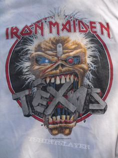 Texas event shirt 1988 - Son Texas event shirt Tour of a Tour from NoahM Old Shirts, Vintage Shirts, T Shirt Photo, Iron Maiden, Types Of Art, Heavy Metal, Sons, Texas, Style Inspiration