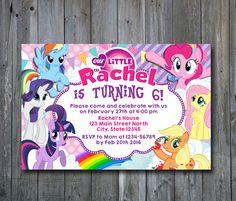 My Little Pony Invitation,My Little Pony Birthday,My Little Pony Birthday Invitation,My Little Pony Party, Birthday Party, Party Invitation by ONOinvitation on Etsy https://www.etsy.com/listing/274974586/my-little-pony-invitationmy-little-pony