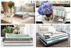 How to Decorate a Coffee Table by @beneathmyheart