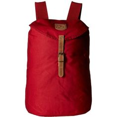 Fj  llr  ven Greenland Backpack Small (Redwood) Backpack Bags (6.520 RUB) ❤ liked on Polyvore featuring bags, backpacks, pocket backpack, strap backpack, red drawstring bag, red drawstring backpack and heavy duty backpack