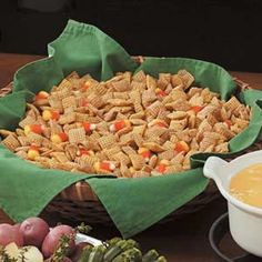 Jack-o'-Lantern Jumble Recipe  - I make this every fall and it is always a hit! :)