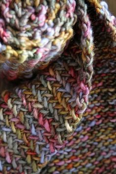 My So Called Scarf by Allison Isaacs. malabrigo Worsted. Deja Vu. colorway.