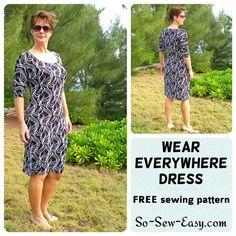"""Einfach Kleid Muster - Free 'überall tragen """"Strickkleid - So Sew Easy"""