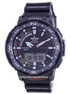 Resin Case, Resin Strap, Mineral Crystal, Black Dial, Analog Digital Display, Double LED Light, Low Temperature Resistant, Mobile Link. Alarm Set, Cool Watches, Watches For Men, Sport Watches, Low Price Watches, Fish Activities, Casio Protrek, Casio Digital