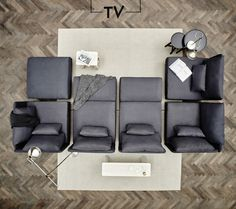 Bring more living to your living room with some of our favourite modular sofa set-ups. Like this lie-down movie night version featuring SÖDERHAMN sofa. Söderhamn Sofa, Ikea Couch, Sofa Set, Ikea Inspiration, Ikea Soderhamn, Ikea Bank, Modul Sofa, Ikea Living Room, Piano Room