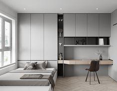 Study Room Design, Wardrobe Design Bedroom, Bedroom Closet Design, Bedroom Furniture Design, Home Room Design, Small Room Bedroom, Home Office Design, Home Decor Bedroom, Modern Bedroom