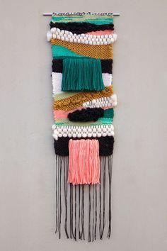 "Kaaterskill Falls / 201412"" x 36""Wool, Cotton, Acrylic"