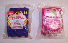 McDonald's - 2 Happy Meal Toys #6 Tarzan - Kala 1999 / Hello Kitty Calendar 2011 #DisneyHelloKitty