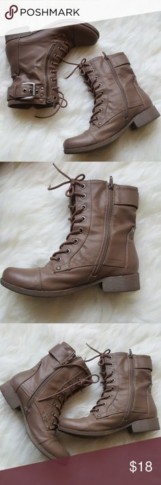 G by Guess Combat Boots Combat Guess Boots.This pair of boots is pre-loved and have some light scratches as shown in the photos. Reasonable offers are always accepted! G by Guess Shoes Combat & Moto Boots
