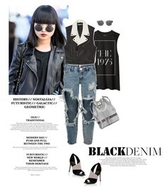 """""""Black + Denim"""" by lisalockhart ❤ liked on Polyvore featuring One Teaspoon, Rebecca Minkoff, Lipsy, MANU Atelier, Taylor Morris, women's clothing, women, female, woman and misses"""