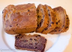 Sweet Plantain Bread with Cinnamon and Raisins- loaf