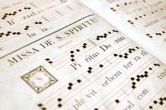 """The early development of Western musical notation arose in the hands of the Church in various parts of Europe including Spain and Italy. Many of the earliest music notations were for choral music, with the notes being typically indicated above the word or syllable of the text being sung. The church music of this period is known as """"Plainchant"""" or """"Gregorian chant"""" named after Gregory the Great who was Pope from 590 until his death in 604 AD."""