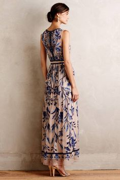 Willowpark Maxi Dress by Moulinette Soeurs Just lovely. Beautiful Maxi Dresses, Pretty Dresses, Beautiful Outfits, Dress Skirt, Dress Up, Dress Outfits, Fashion Dresses, Look Chic, Look Fashion
