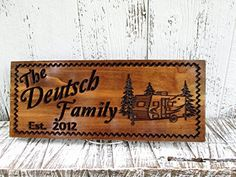 camping signs personalized - Custom Camping Sign with Pull behind Camper, Personalized Camper Sign, Custom Carved Wooden Signs for Home, Business and Life. >>> See this great product. (This is an affiliate link)