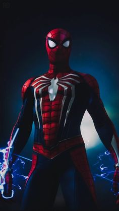 Spider-Man is a fictional superhero created by writer-editor Stan Lee and writer-artist Steve Ditko. He first appeared in the anthology comic book Amazing Fantasy in the Silver Age of Comic Books. Spiderman Pictures, Black Spiderman, Spiderman Art, Amazing Spiderman, Spiderman Ps4 Wallpaper, Marvel Wallpaper, Spiderman Lockscreen, Marvel Comics, Marvel Venom