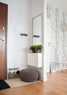 Apartment Therapy Small Spaces Living Room: Sure, its easy to make a functioning entryway if y. Hallway Decorating, Entryway Decor, Entry Foyer, Entryway Ideas, Modern Entryway, No Entry, Entry Nook, Entryway Flooring, Narrow Entryway