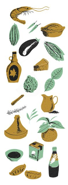 Food - NICHOLAS JOHN FRITH Illustration & Printmaking