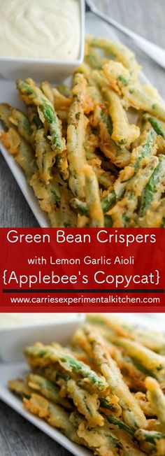Enjoy one of your favorite Applebee's starters at home with my version of Green Bean Crispers with Lemon Garlic Aioli.