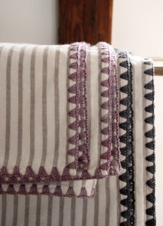 Tutorial: How to crochet edging on flannel blankets.